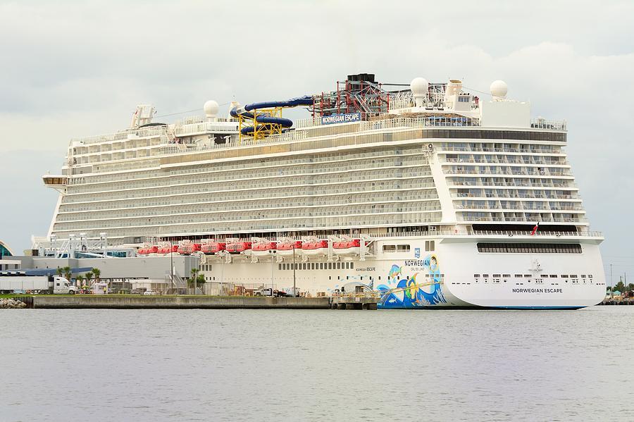 Norwegian Escape in Port by Bradford Martin