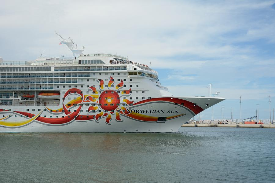 Norwegian Sun Underway by Bradford Martin