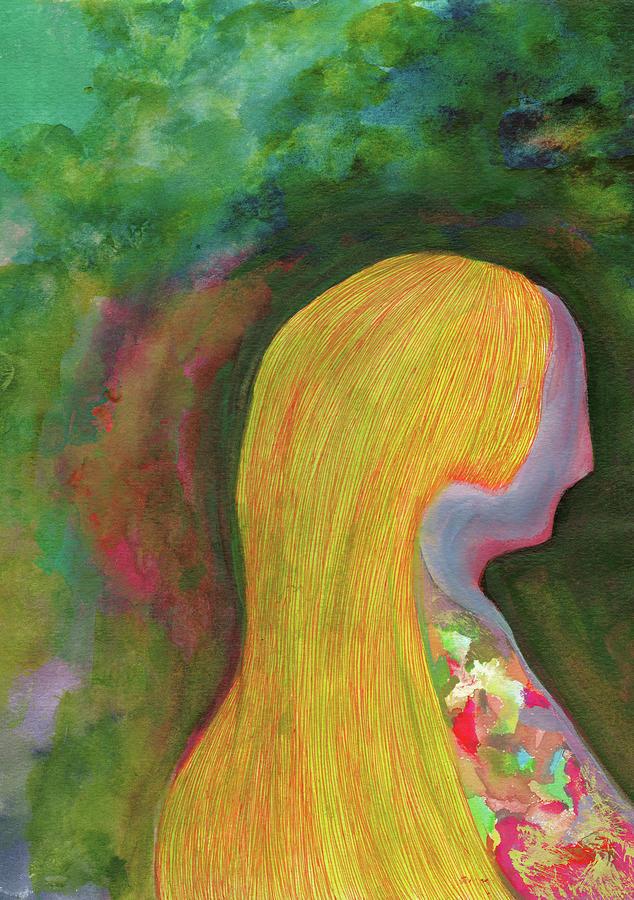 Blond Drawing - Nostalgia - #SS19DW005 by Satomi Sugimoto