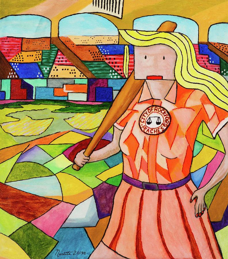 Rockford Painting - Not A Simple Woman - Rockford Peach by John Naretta