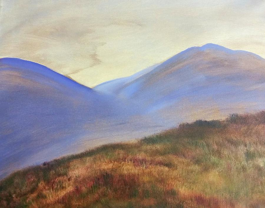 Twilight Painting - Not Quite Twilight by Carly Creley