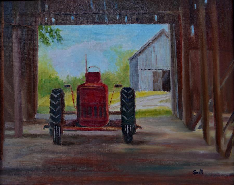 Oil Painting - Not Retired Yet by Roger Snell