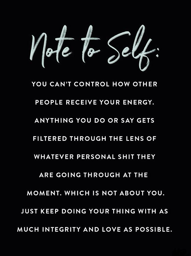 Note to Self by ANTHONY FISHBURNE