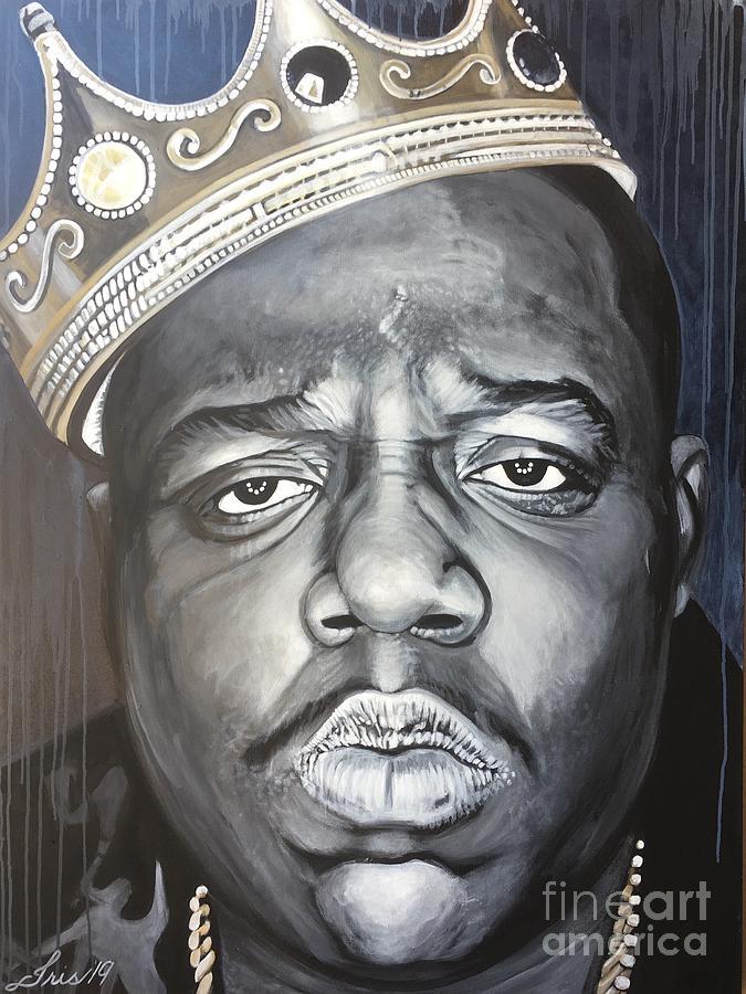 Icon Painting - Notorious Big by Iris Ortega
