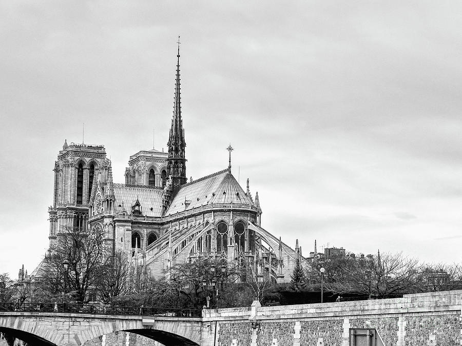 Notre Dame Cathedral Photograph - Notre Dame Cathdral In Paris France by Paul Topp