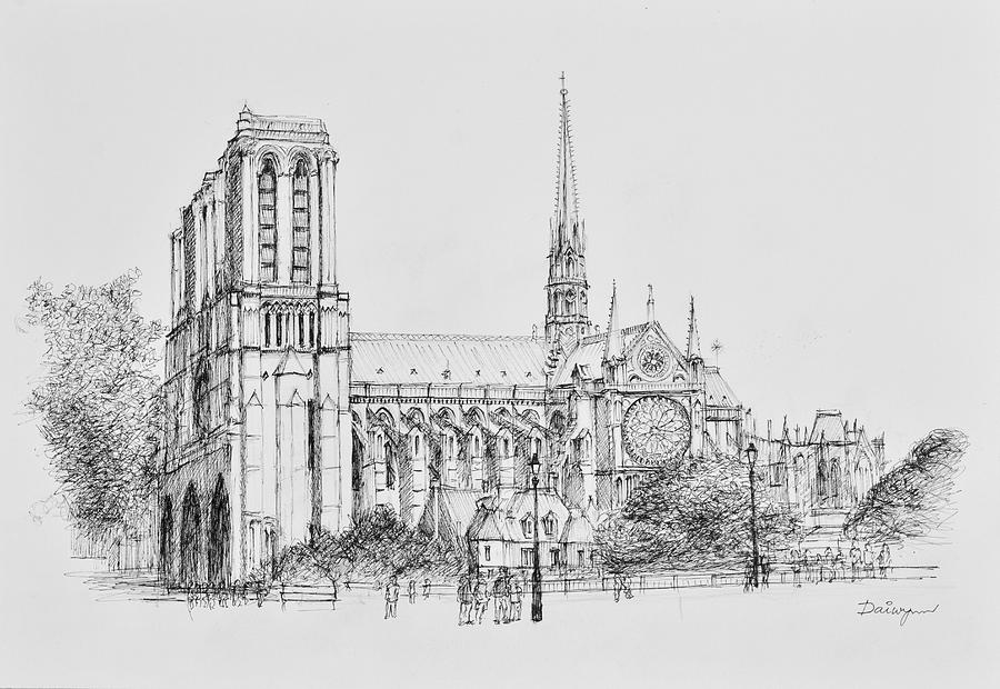 Notre Dame Cathedral 2015 by Dai Wynn