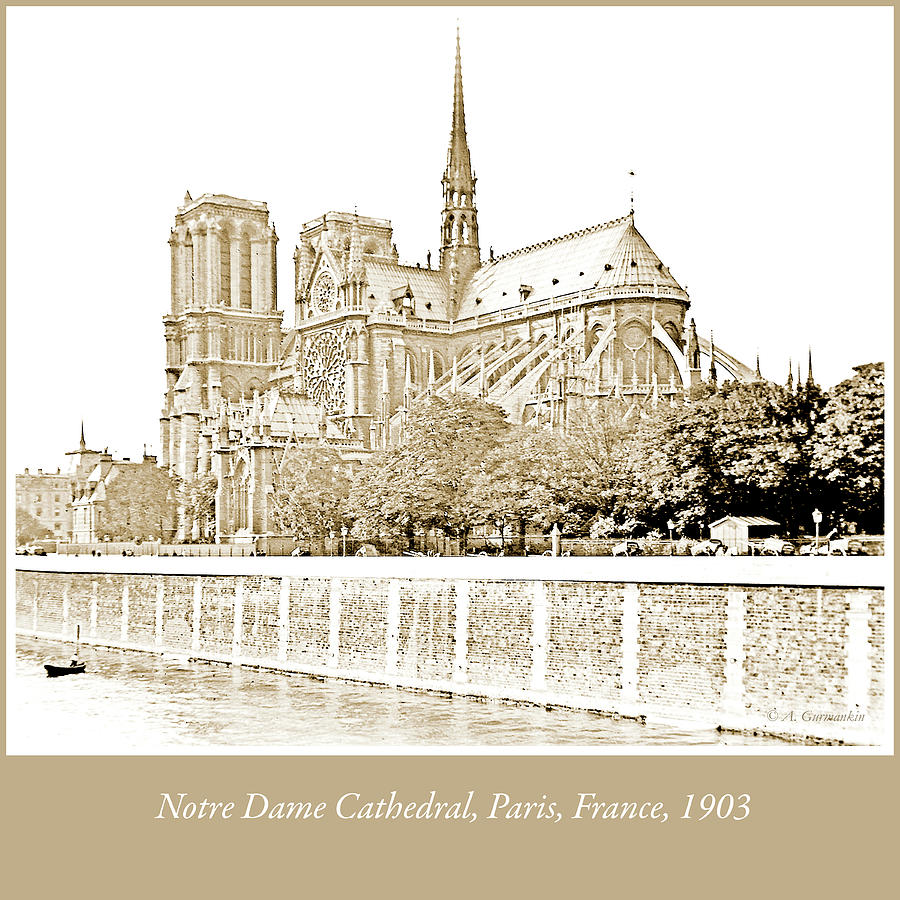 Notre Dame Cathedral, Paris, France, 1903 by A Gurmankin