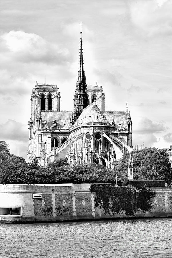 Notre Dame Cathedral Paris France by Toula Mavridou-Messer