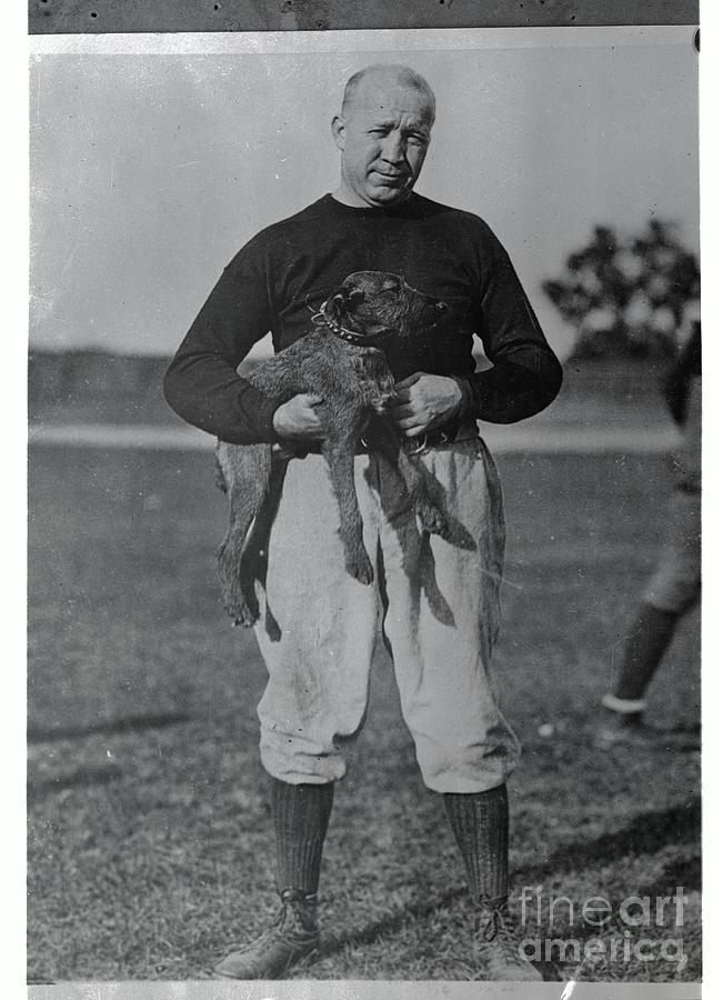 Notre Dame Coach Knute Rockne Holding Photograph by Bettmann