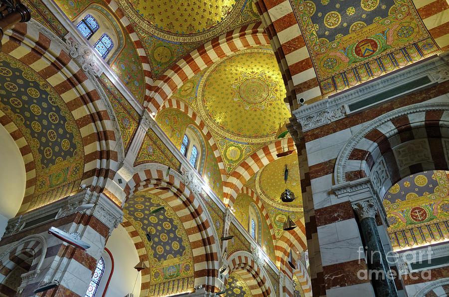 Notre-Dame de la Garde Cathedral Interior by Angelo DeVal