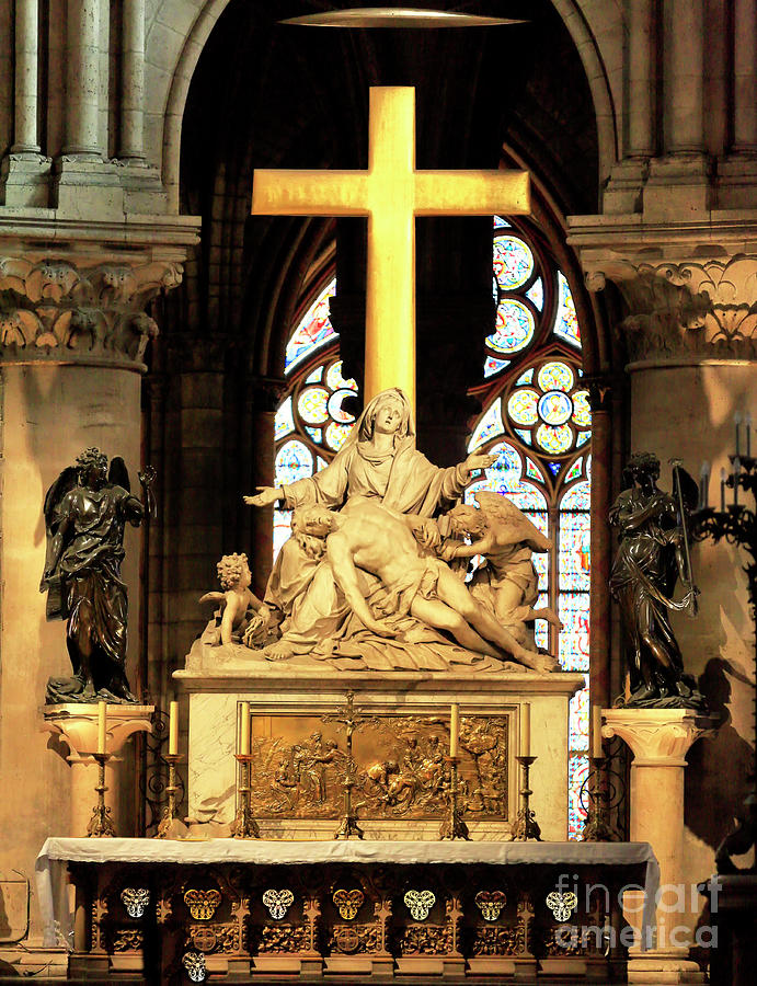 Notre-Dame de Paris Altar and Crucifix by John Rizzuto