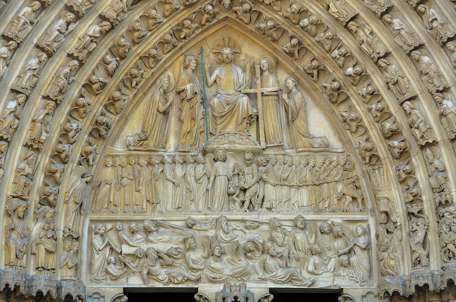 Notre Dame de Paris - Tympanum of the Last Judgment  by RicardMN Photography