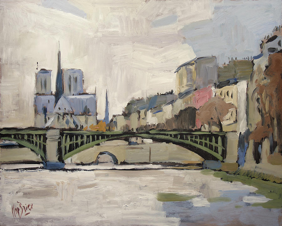 Notre Dame during winter II by Nop Briex