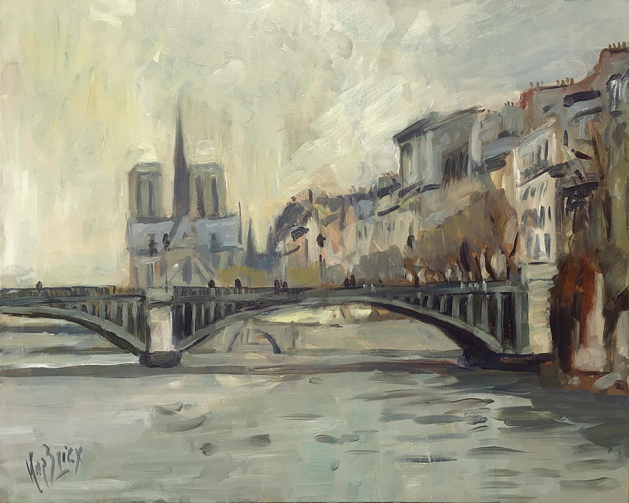 Notre Dame during winter by Nop Briex