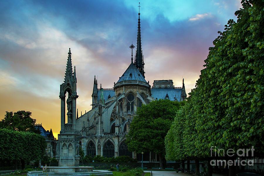 Notre Dame Evening by Brian Jannsen
