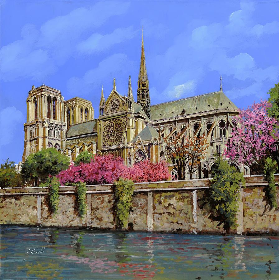 Notre Dame In Primavera Painting