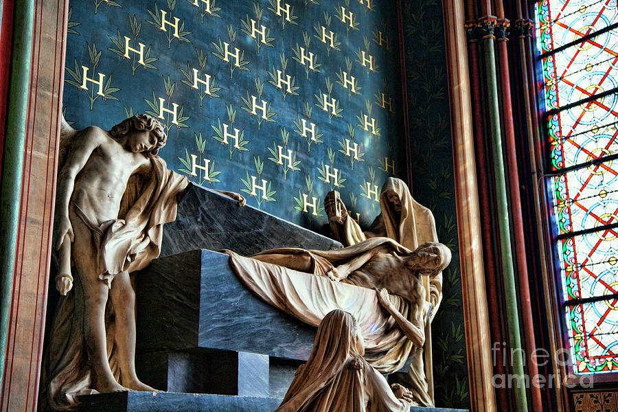 Notre Dame Interior Statues Architecture  by Chuck Kuhn