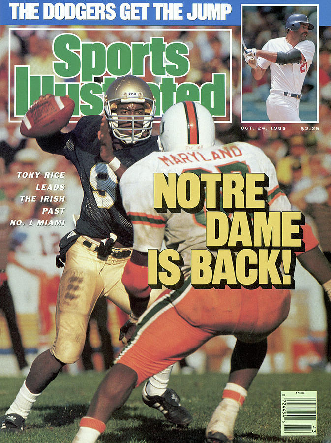Notre Dame Is Back Tony Rice Leads The Irish Past No. 1 Sports Illustrated Cover Photograph by Sports Illustrated