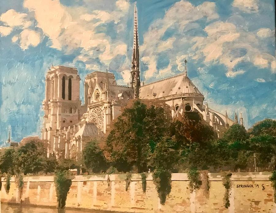 Notre Dame on a Sunny Day by Gary Springer