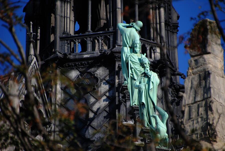 Notre Dame Paris Spire Watchers by Jacqueline M Lewis