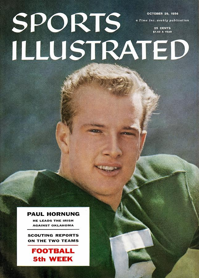 Notre Dame Qb Paul Hornung Sports Illustrated Cover Photograph by Sports Illustrated