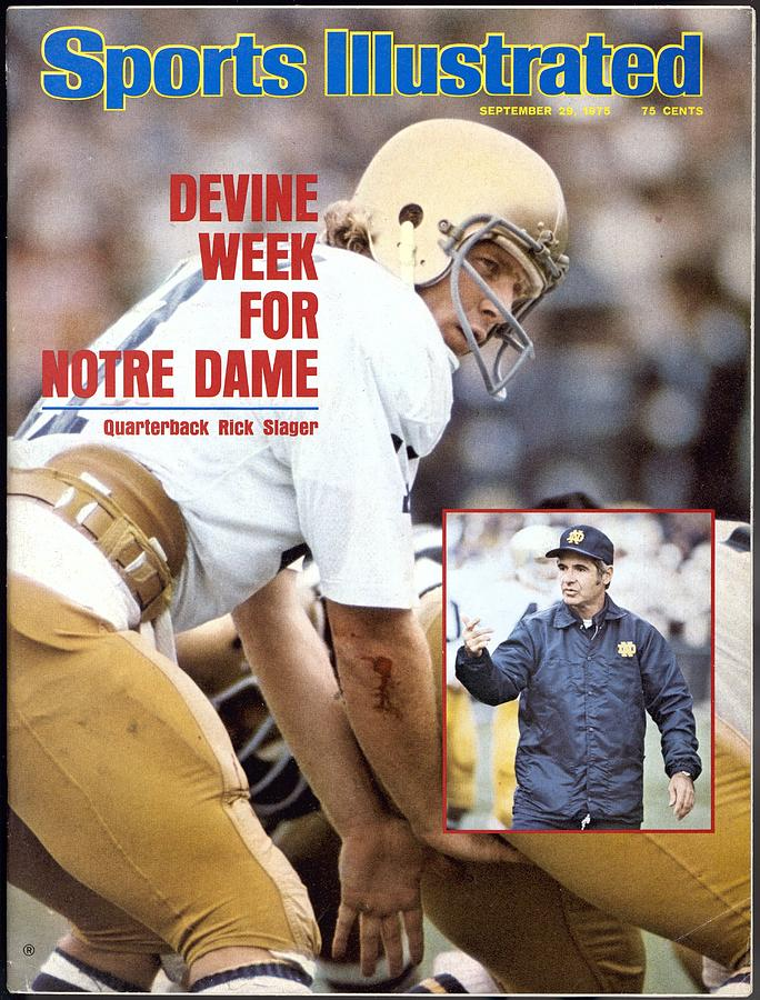 Notre Dame Qb Rick Slager... Sports Illustrated Cover Photograph by Sports Illustrated