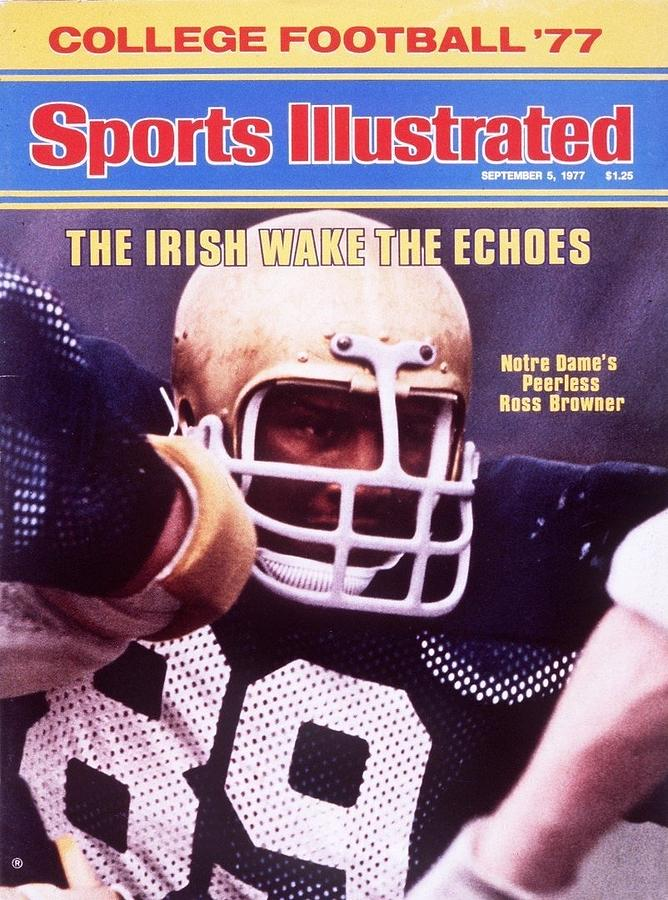 Notre Dame Ross Browner Sports Illustrated Cover Photograph by Sports Illustrated