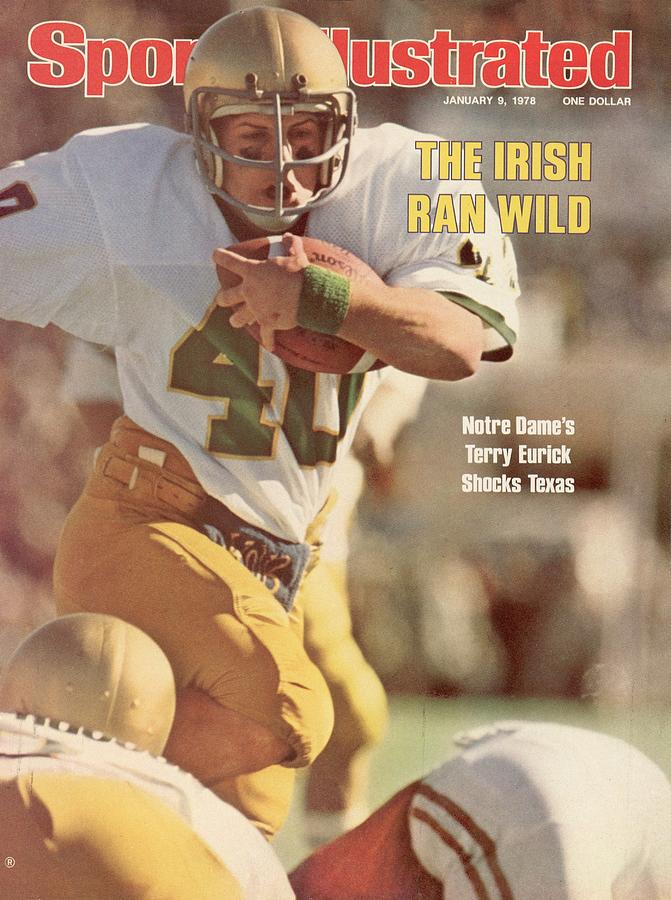 Notre Dame Terry Eurick, 1978 Cotton Bowl Sports Illustrated Cover Photograph by Sports Illustrated