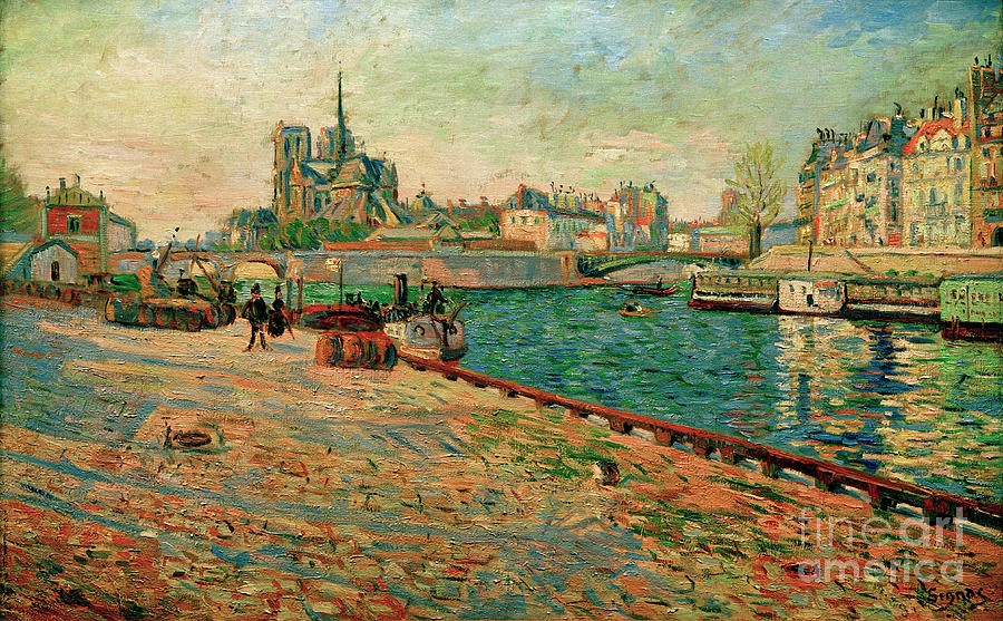 Notre Dame, the Island Saint-Louis by Paul Signac