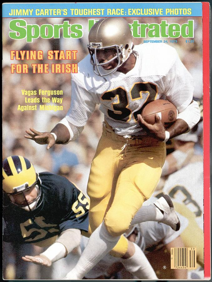 Notre Dame Vagas Ferguson... Sports Illustrated Cover Photograph by Sports Illustrated