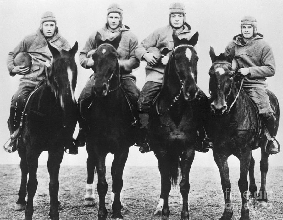 Notre Dames Four Horsemen Of Football Photograph by Bettmann