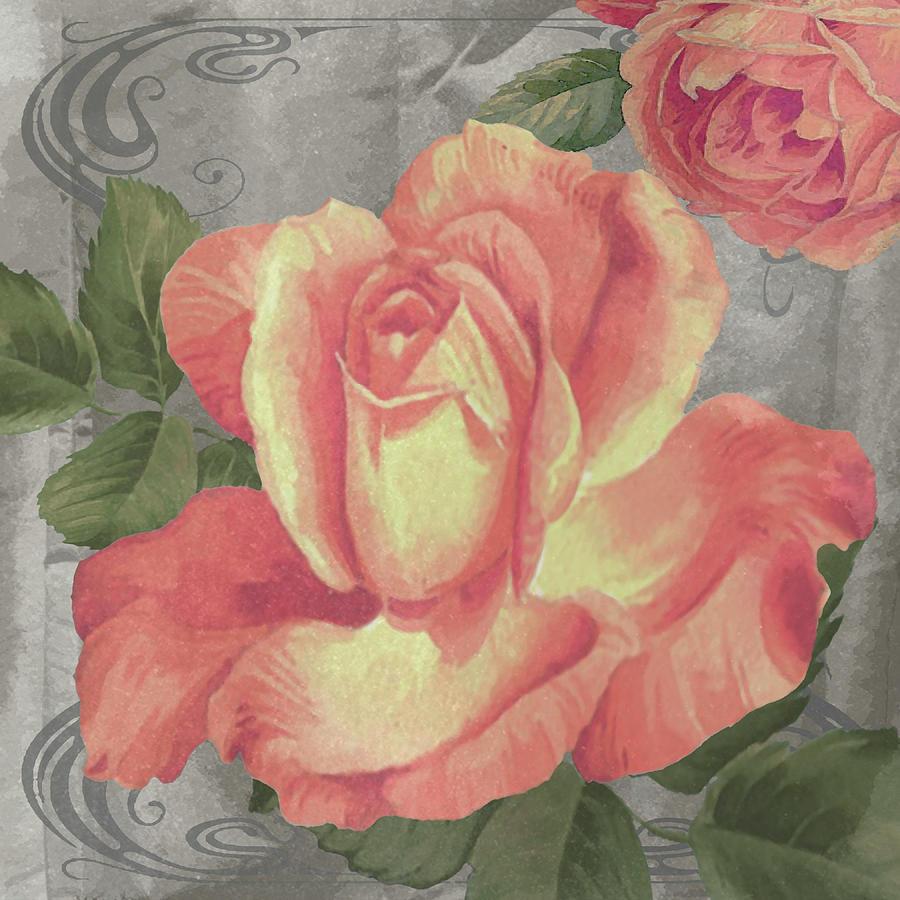 Flowers Digital Art - Nouveau Orange Rose by Bill Jackson