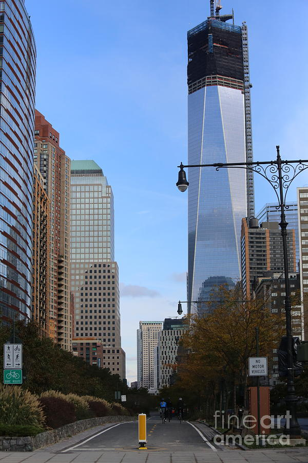 NOV 1st 2012 WTC New Construction Stopped Hurricane Sandy NYC  by Chuck Kuhn