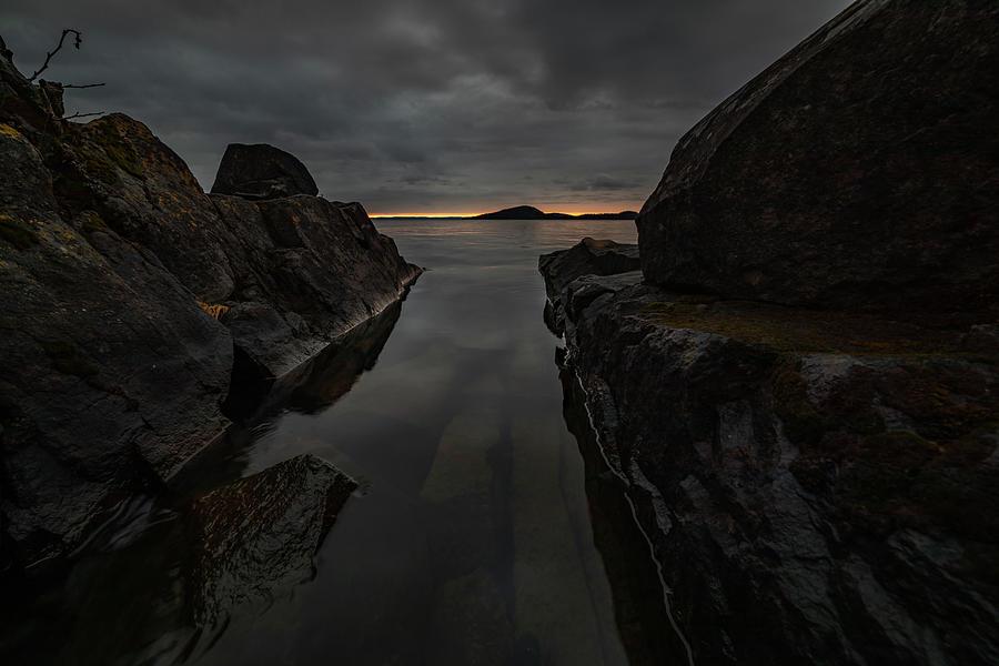 Bay Photograph - November Skies at Picnic Point by Jakub Sisak