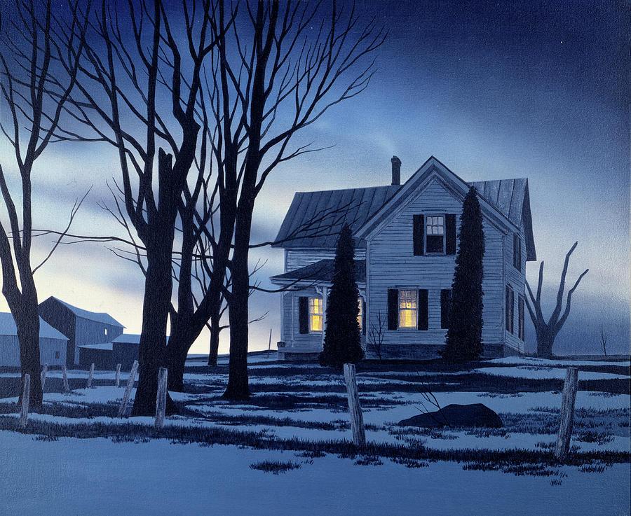 Outdoors Painting - November Twilight by John Morrow