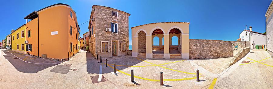 Novigrad Istarski Town Lodge And Street Scene Panoramic View Photograph