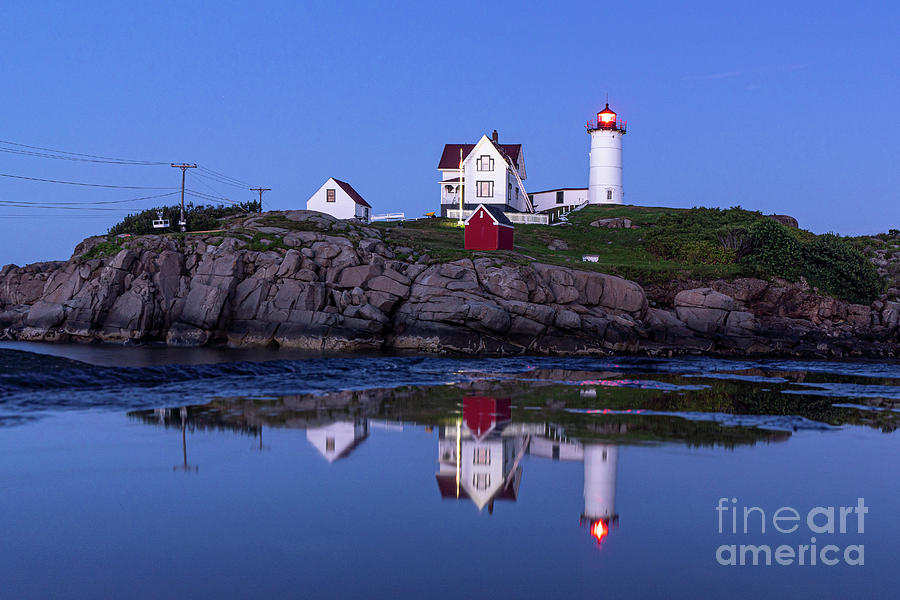 Nubble - Blue Hour Reflection by Craig Shaknis
