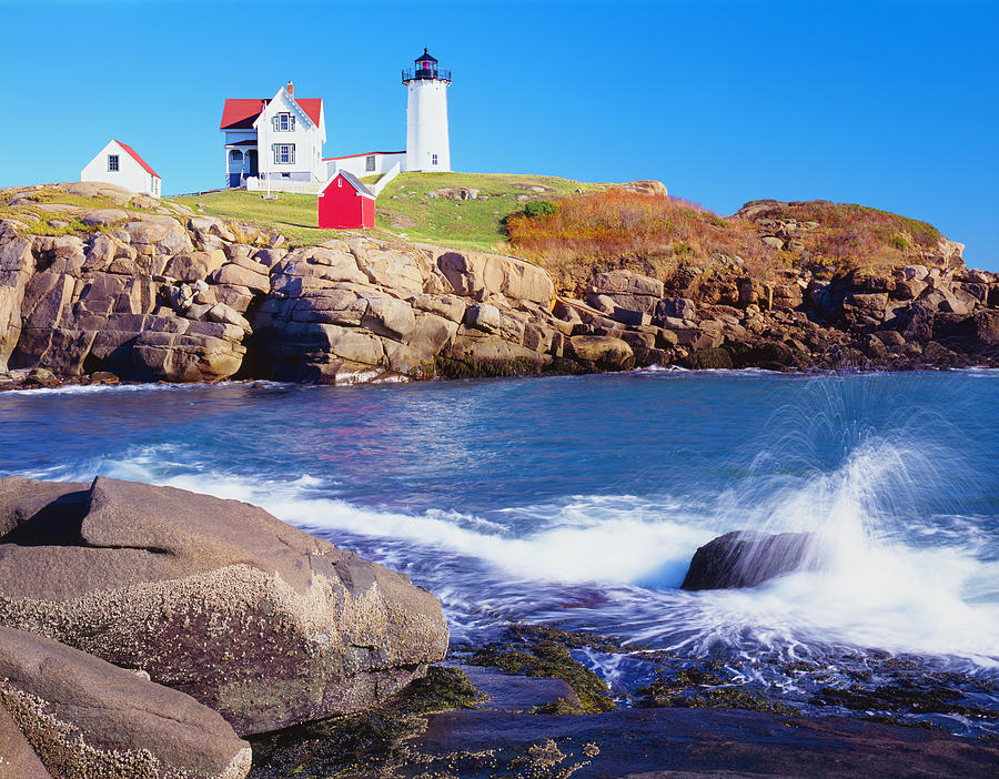 Nubble Lighthouse And Coastine Of Maine Photograph by Ron thomas
