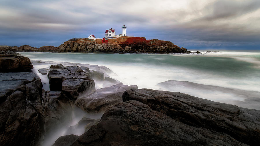 Nubble Lighthouse, York ME. by Michael Hubley