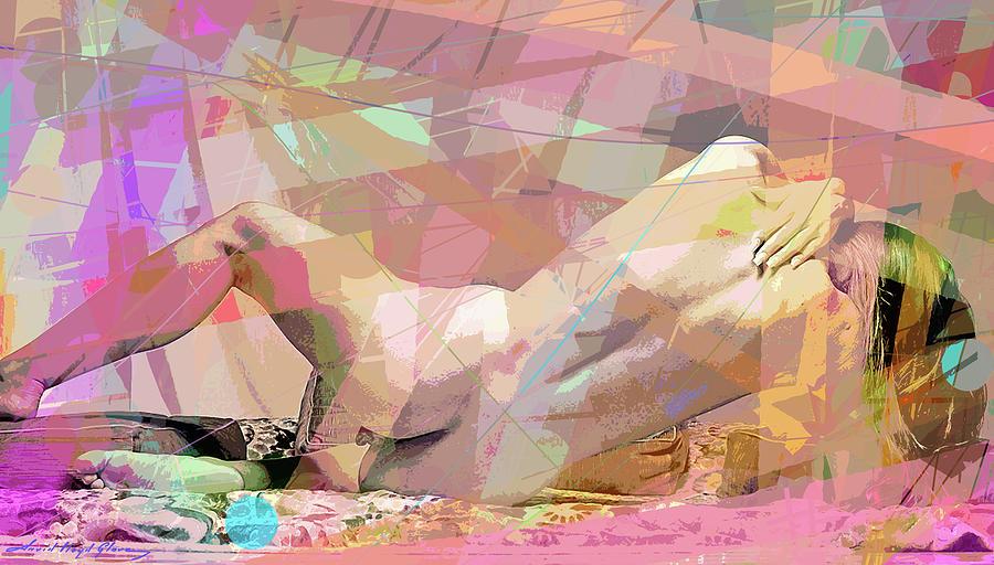 NUDE BACK STUDY RECLINING by David Lloyd Glover