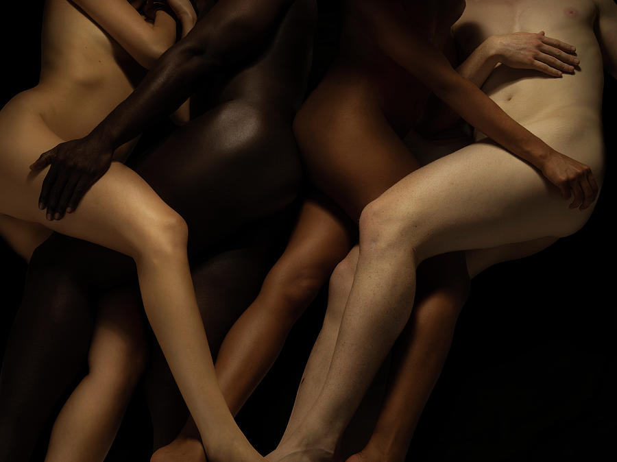 Nude Bodies In Different Skin Colours Photograph by Jonathan Knowles