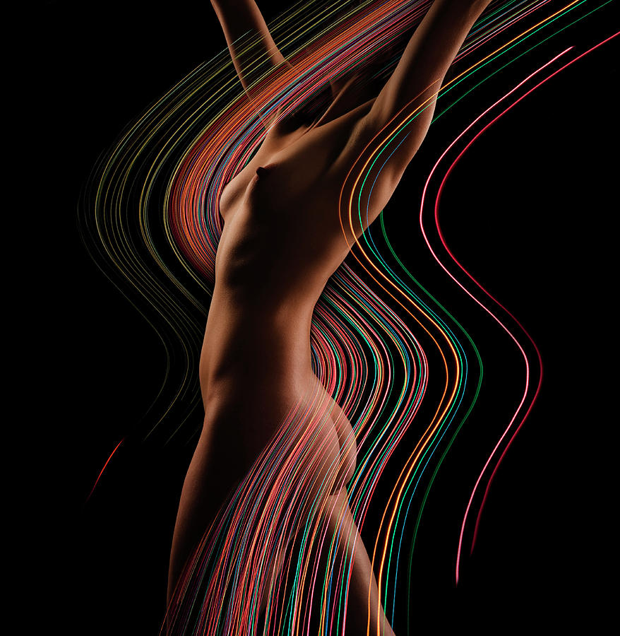 Nude Famale, Side View Digital Composite Photograph by John Lund
