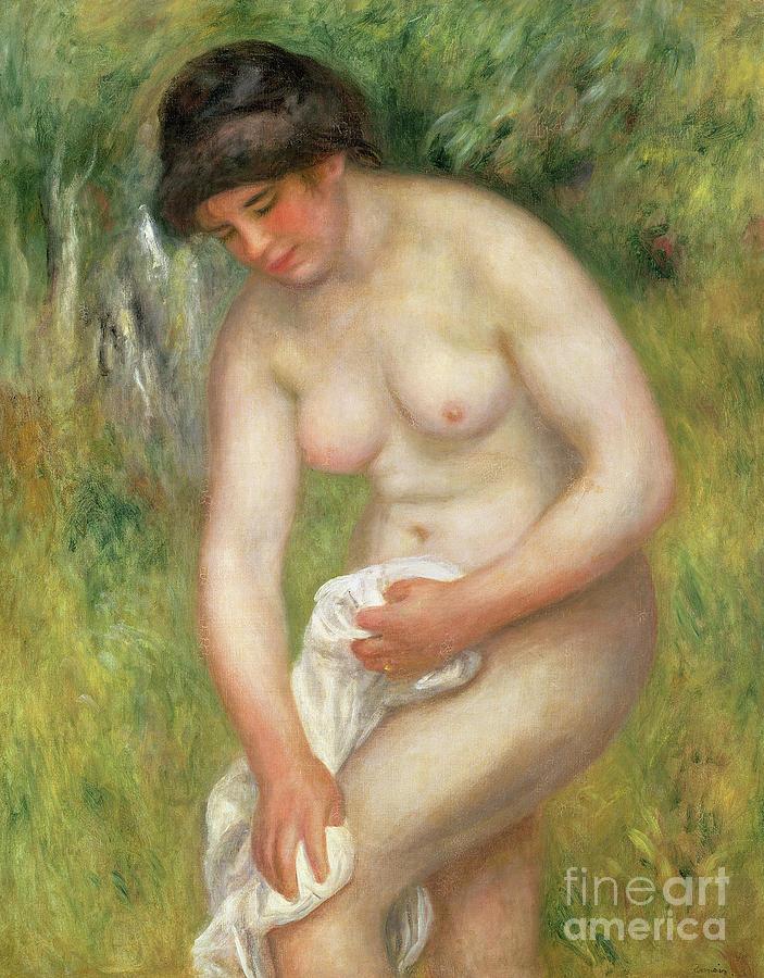 Nude, Green Background, 1902 by Pierre Auguste Renoir