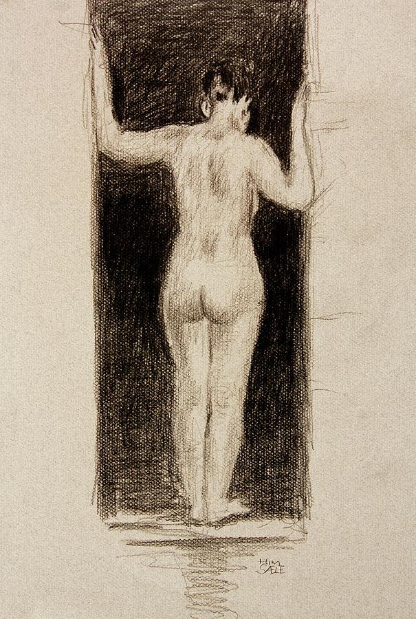 Nude in the Doorway by Hans Egil Saele