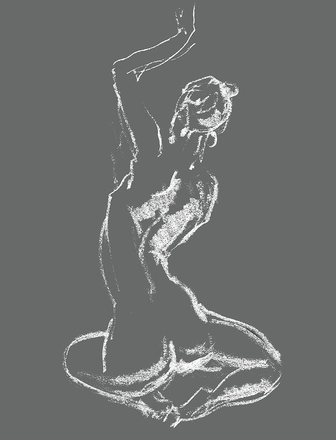 Nude Drawing - Nude Model Gesture Xxviii by Irina Sztukowski