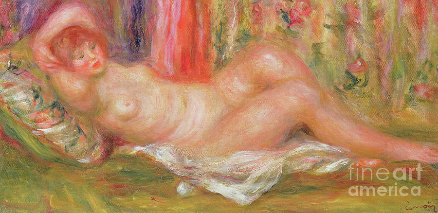 Nude on Couch by Pierre Auguste Renoir