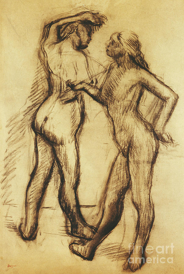 Nude Study, Two Women Standing by Edgar Degas