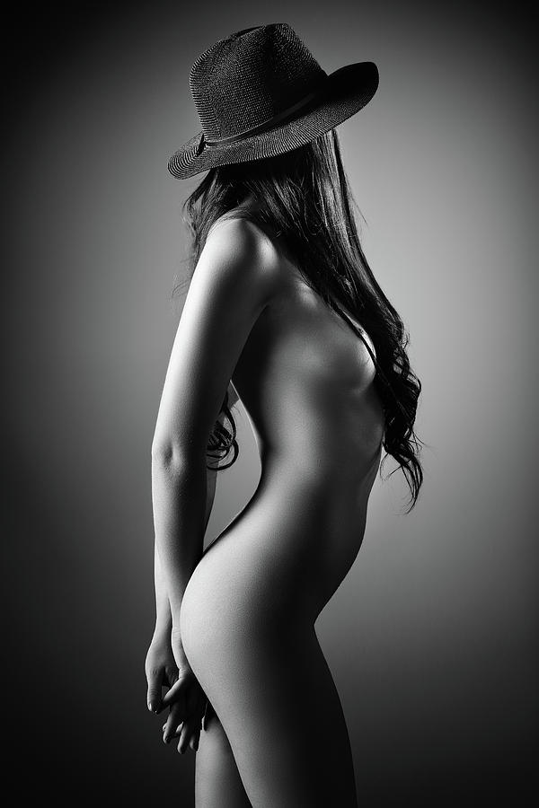 Nude Woman With A Hat Photograph