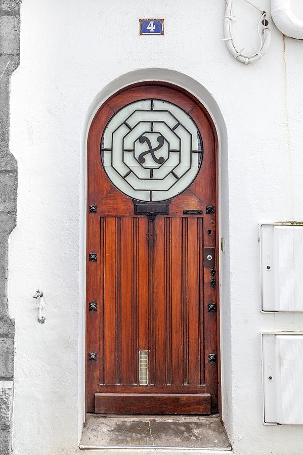 Door Photograph - Number 4, Biarritz France by W Chris Fooshee