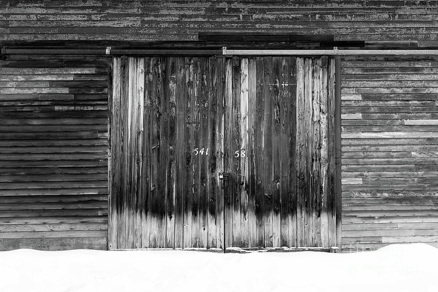 Farm Photograph - Numbers On An Old Barn Door Windsor Vermont by Edward Fielding